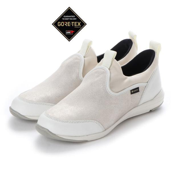 定価16,500円 madras Walk MWL1006 マドラスウォーク ゴアテックス GORE-TEX レディース 透湿防水 履き口伸縮 スニーカー 靴 ホワイトメタリック