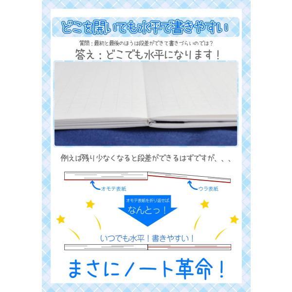 ノート 文具 a5 5mm A4になる 水平開きノート suihei no-to 便利 文房具 A5H60-3.5mm95g twineco1 08