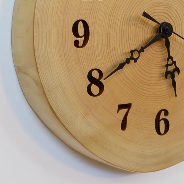 木製 電波時計 桧(ひのき)年輪 [26cmサイズ]  No.1170|twinheartspro|05