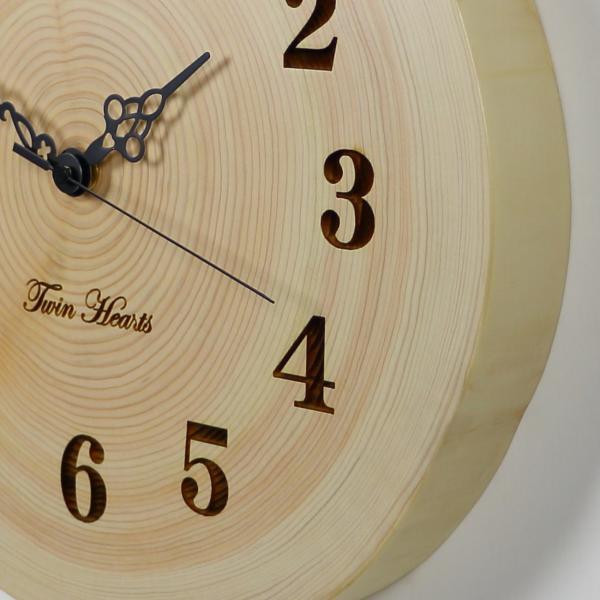木製 電波時計 桧(ひのき)年輪 [30cmサイズ]  No.1363|twinheartspro|04