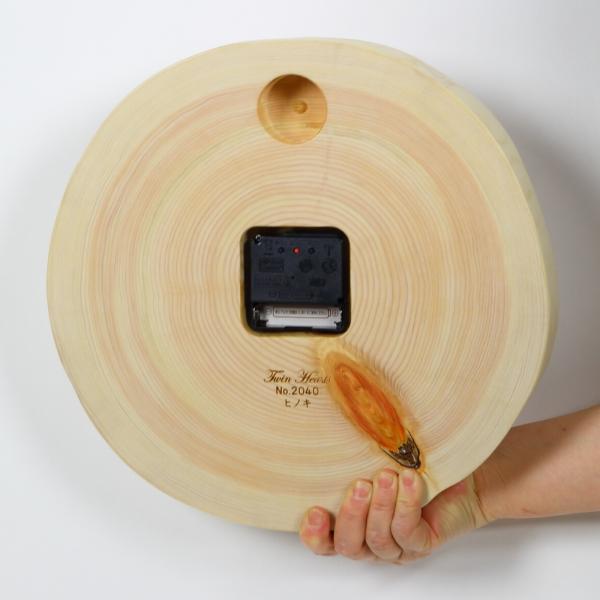 木製 電波時計 桧(ひのき)年輪 [30cmサイズ]  No.1363|twinheartspro|06