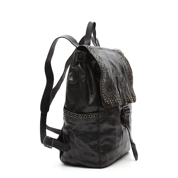 Campomaggi カンポマッジ  Spirea black leather レザー バックパック リュックサック