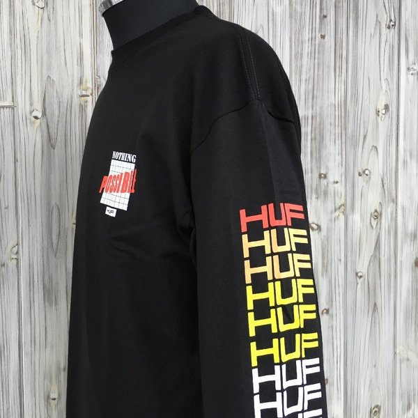 HUF POSSIBLE L/S TEE SHIRT ハフ ポッシブル 袖プリ ロンT