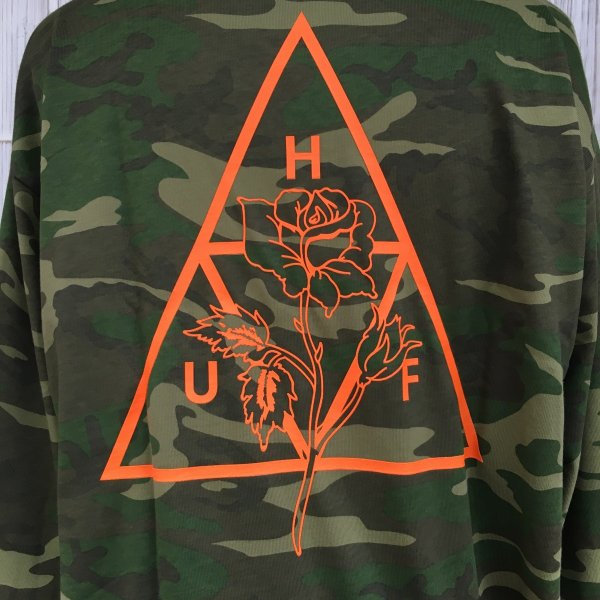 HUF AMBUSH ROSE L/S TEE SHIRT ハフ ローズ ロンT 迷彩