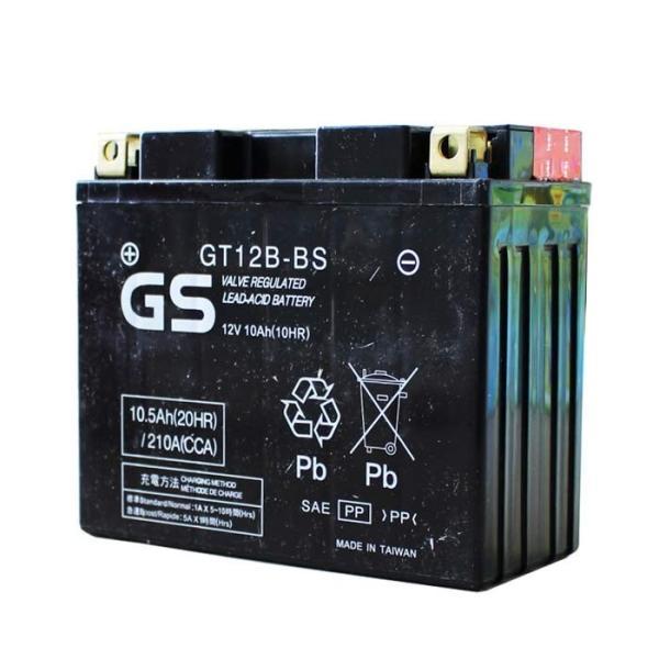 レビューを書いて★送料無料★【あすつく】保証/初期充電済 台湾 GS バッテリー GT12B-BS (YT12B-BS 互換) ドラッグスター400 クラシック(4TR/BC-VH01J)|twintrade|02