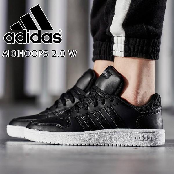 49f523cc5b4e27 アディダス スニーカー 黒 adidas ADIHOOPS 2.0 W B42095 レディース カジュアル シューズ ローカット ブラック|twiy  ...