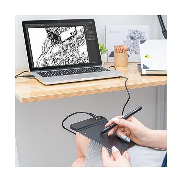 XP-PEN ペンタブレット ペン入力 OSU!専用XP-PENペンタブ お絵描き入門モデル Mサイズ ブラック StarG640|twopieces|03