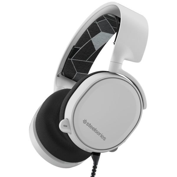 【国内正規品】密閉型 ゲーミングヘッドセット SteelSeries Arctis 3 White 61434 twopieces