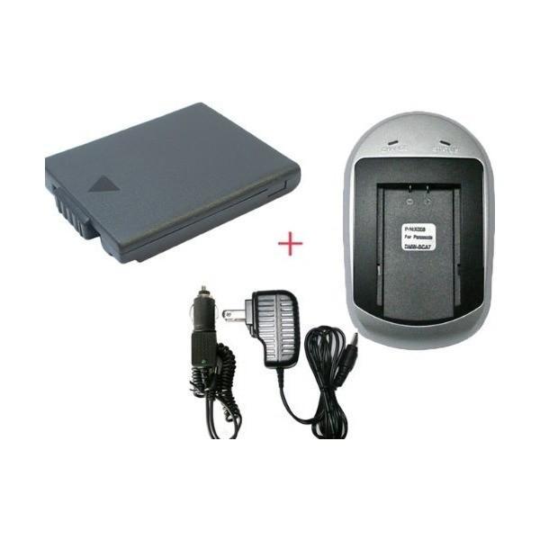 Panasonic DMW-BCA7 対応 DMC-FX1 DMC-FX5 対応 (互換バッテリー+ACアダプタ充電器)