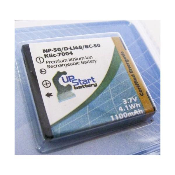 2xパック - Fujifilm FinePix F50FD 互換バッテリー + 充電器 + 車内アダプター : Fujifilm NP-50 カメ