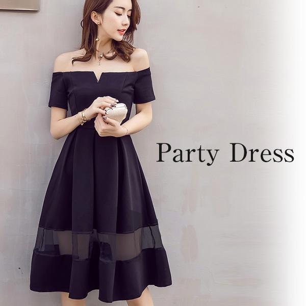 46224fa2f6570 パーティードレス 結婚式 大きいサイズ ロング ドレス ワンピースミモレ丈 30代40代50 ...