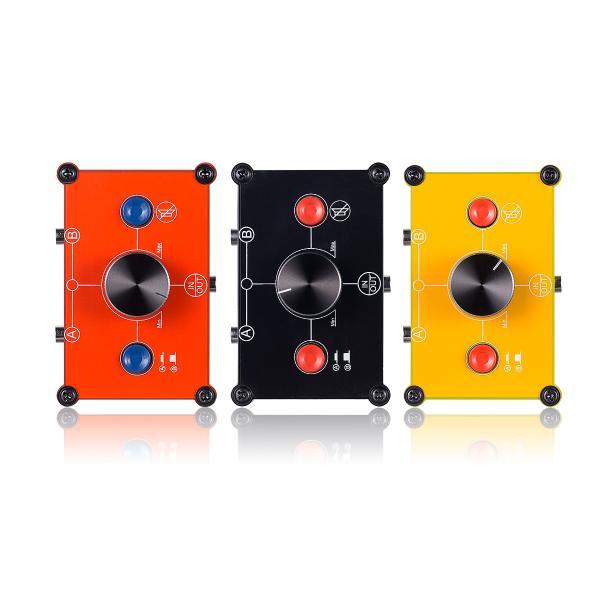 【新登場!!】ミニ 2(1)-IN-1(2)-OUT 3.5mm ステレオ オーディオ スイッチャ パッシブセレクタスプリッタ ボックス