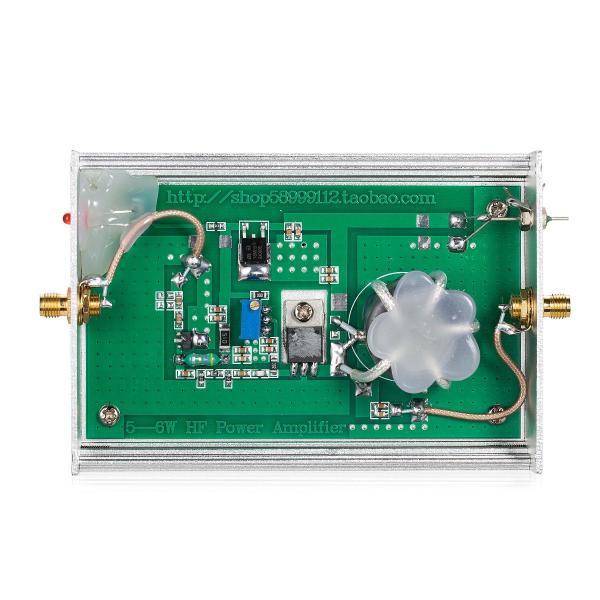 超広帯域 RF パワーアンプ 1MHz〜130MHz 6W 43dB HF 短波リニアアンプ
