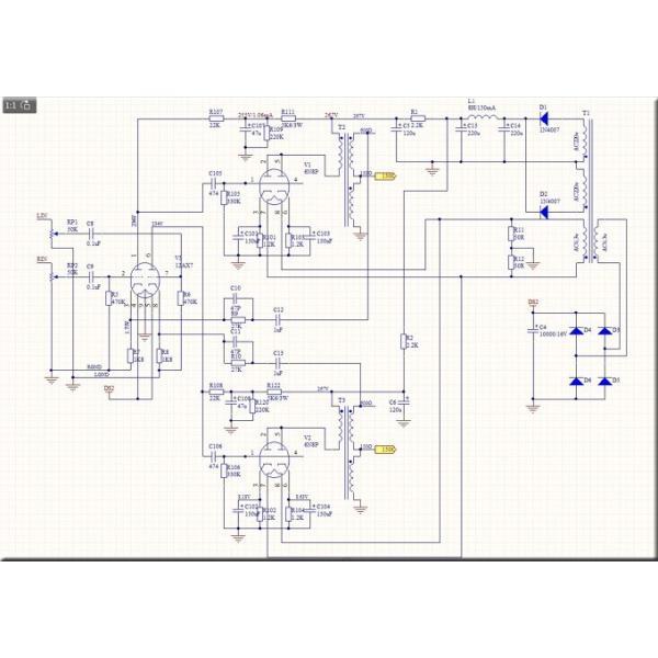 Nobsound 6SN7 ECC83 真空管 ヘッドフォンアンプ A級 ステレオ オーディオ アンプ Hi-Fi プリアンプ|tysj-shop|12