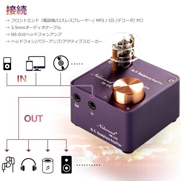Nobsound NS-01E Mini ステレオ ハイブリッドアンプ ヘッドホンアンプ hi-fi オーディオアンプ 真空管|tysj-shop|06