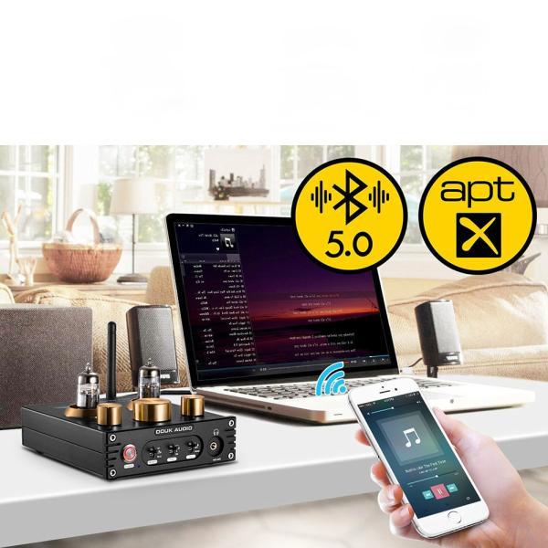 Douk Audio P1 HiFi Bluetooth 5.0 真空管プリアンプ USB DAC APTX プリアンプ tysj-shop 12