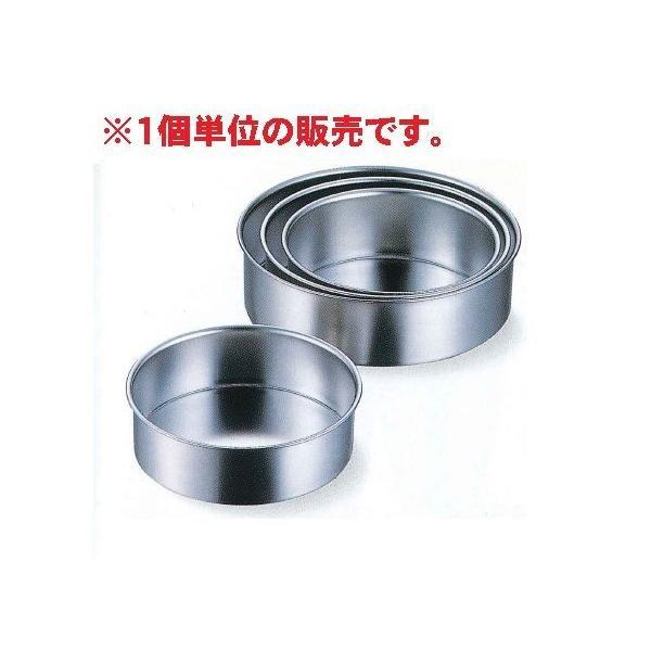 AG 18-8(SUS304) 共底デコ缶(総絞りチーズケーキ用) 18cm深型 【品番:99718】