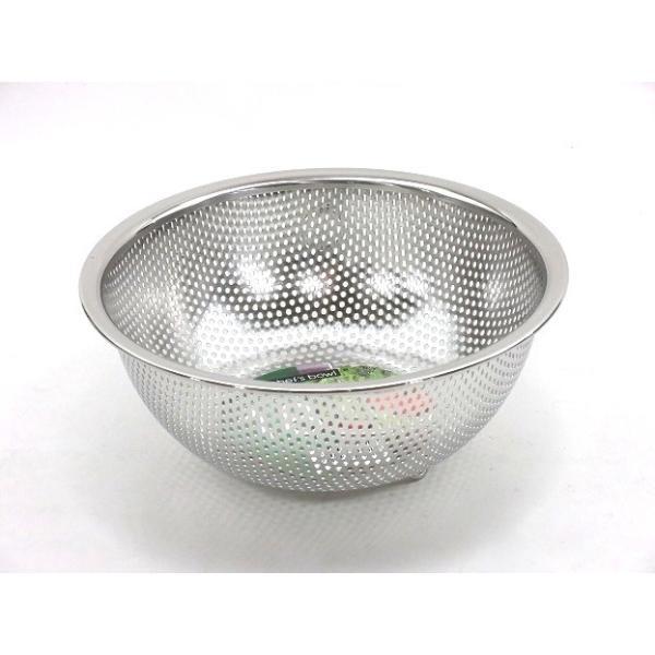 Chef's bowl(シェフズ ボール) ステンレス足付 パンチングボール 24cm(リング付)PCB-24 ステンレスメッシュボール