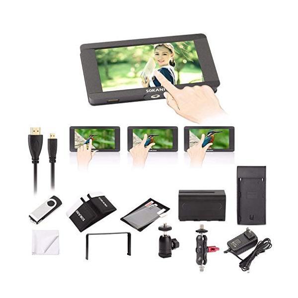 Sokani SK-5 5h 4k信号サポート&タッチスクリーン1920 x 1080 HDMIオンカメラカメラフィールドカメラビデオモニタ