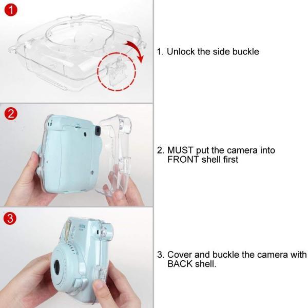Fintie FUJIFILM インスタントカメラ チェキ Fujifilm instax mini 9 / mini 8 / mini 8|tywith2|02