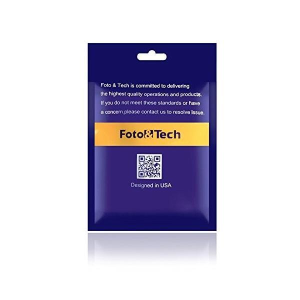 Foto&Tech 3.5 mmの男性用フラッシュPC同期ケーブルネジロック付き14インチコイルコードNikon、Canon、およびほとんど