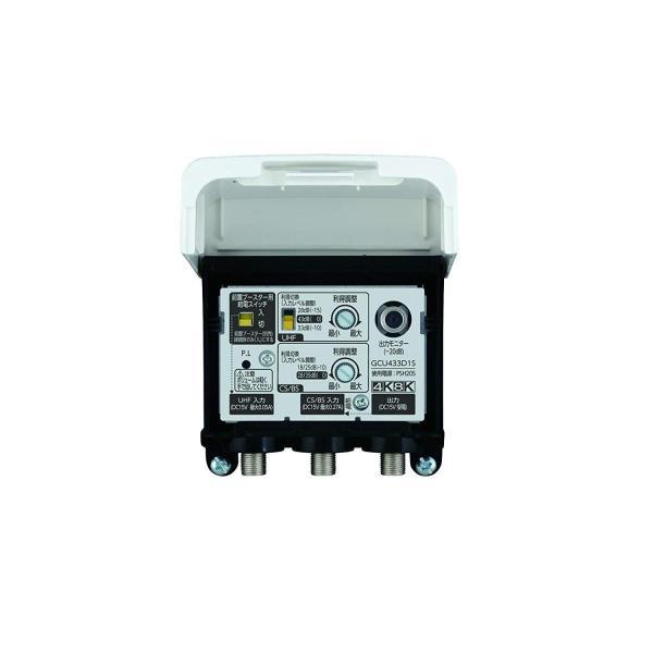 DXアンテナ CS/BS-IF・UHF デュアルブースター 2K 4K 8K 対応 家庭用 水平マストに取付可能 GCU433D1S