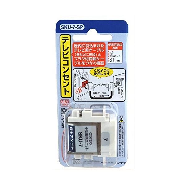 日本アンテナ テレビコンセント 直付型 壁面端子用 SKU-7-SP
