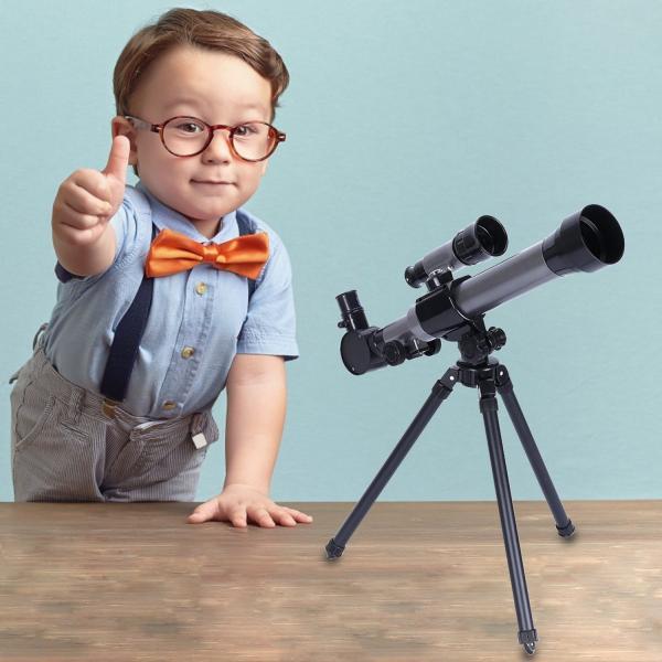 FUNRUI 子供の望遠鏡 20X-30X-40X 調節可能な 天体天文 望遠鏡 子ども 初心者 屈折三脚単眼望遠鏡 コンパス付き おもちゃ|tywith2|07