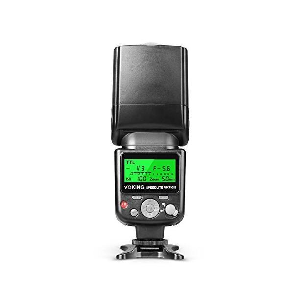 Voking VK750IIIN LCD スクリi-TTL/TTLーンフラッシュ・スピードライト for Nikon DSLR カメラ