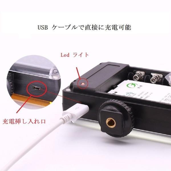 Eoogere Led ビデオライト 96 球 カメラ&一眼レフカメラ用 撮影照明 人物/商品/結婚式/パーティー撮影用 USB充電可能 バ
