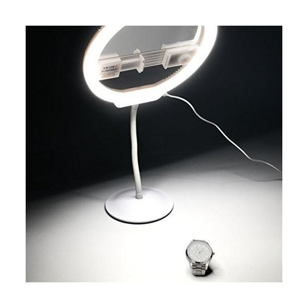YONGNUO LEDビデオライト YN128II ミラー付き 定常光ライト 二色 3200-5500K 照明・撮影ライト