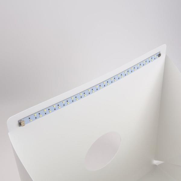 スマイリーデイズ(Smiley Days) 撮影ブース 撮影ボックス 40*40*40cm LED照明付 USB給電 簡易スタジオ 折り畳み