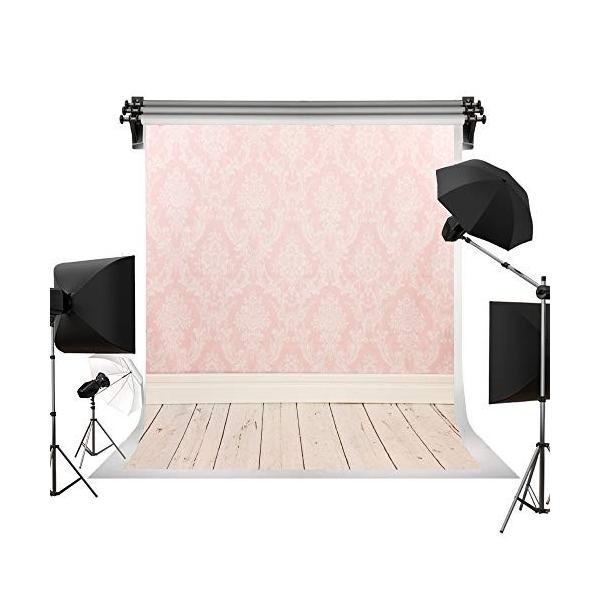 Kate 10x10ft/3x3m ピンクの背景布 木製 床 写真撮影用の背景幕 子供やペットの写真撮影用 写真 スタジオ 撮影 背景布 装