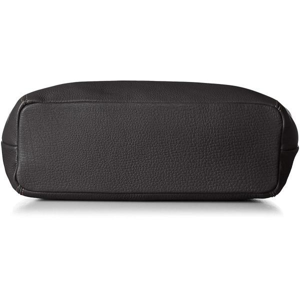 キタムラ セミショルダーバッグ A4対応 Y-0629 ブラック/キャメルステッチ 黒 15611