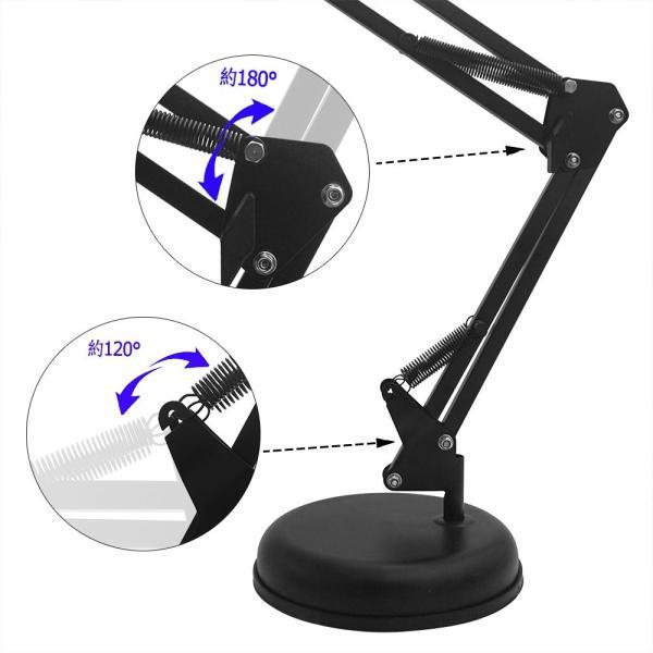 Tuloka マイクスタンド 折り畳み 卓上伸縮アーム 固定クランプ マイクホルダー ショックマウント 高さ調節可能 金属製 収納簡単 台座
