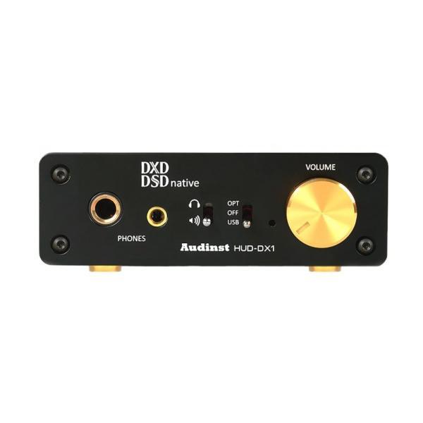 Audinst DSD/DXD対応 ヘッドホンアンプ HUD-DX1-BK ブラック