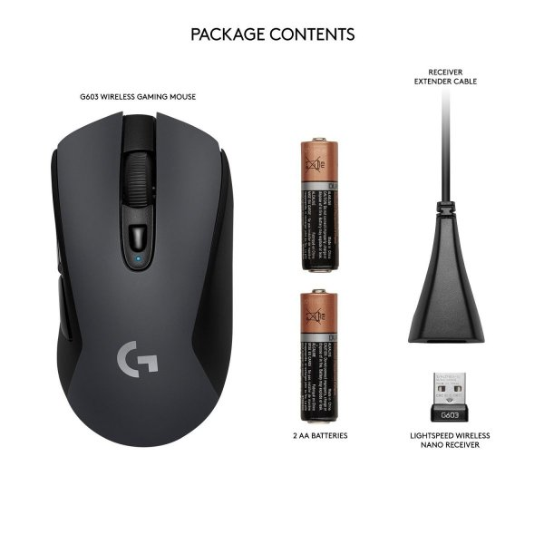 Logitech G603 LIGHTSPEED Wireless Gaming Mouse ワイヤレス ゲーミング マウス Bluetoo|tywith|03