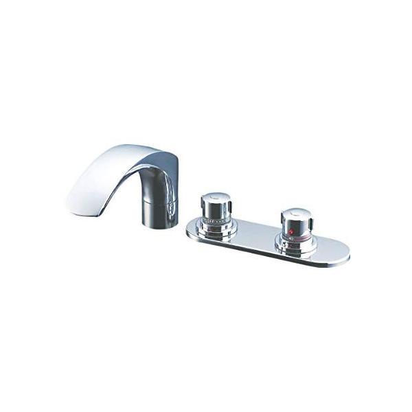 LIXIL(リクシル) INAX 浴室用 台付 サーモスタット付バス水栓 デッキタイプ 呼び径13mm 吐水口長さ236mm BF-X195|tywith|01