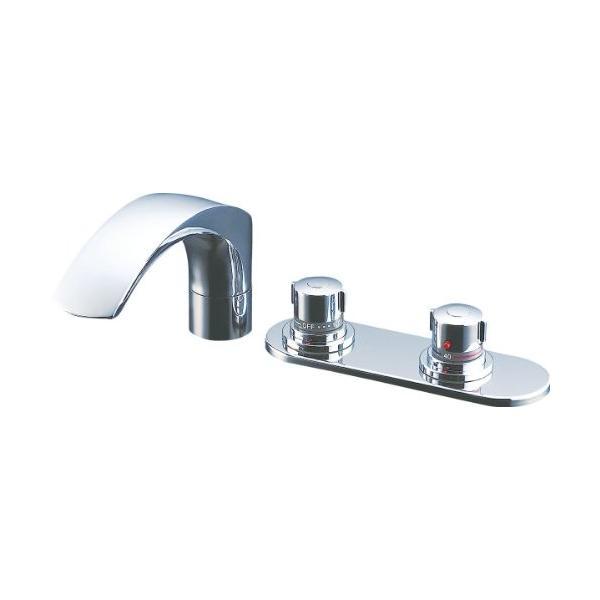 LIXIL(リクシル) INAX 浴室用 台付 サーモスタット付バス水栓 デッキタイプ 呼び径13mm 吐水口長さ236mm BF-X195|tywith|02