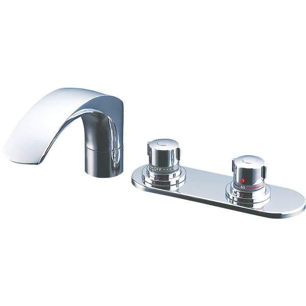 LIXIL(リクシル) INAX 浴室用 台付 サーモスタット付バス水栓 デッキタイプ 呼び径13mm 吐水口長さ236mm BF-X195|tywith|03