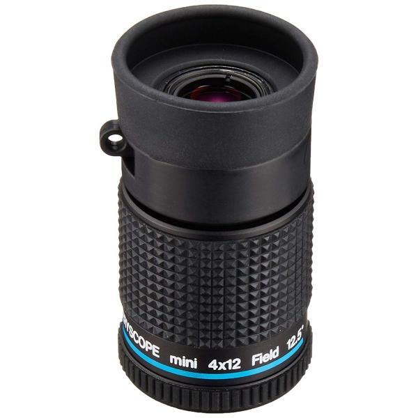 MIZAR-TEC 単眼鏡 4倍12ミリ口径 至近距離・小型タイプ ケース付き 日本製 ブラック KM-412S