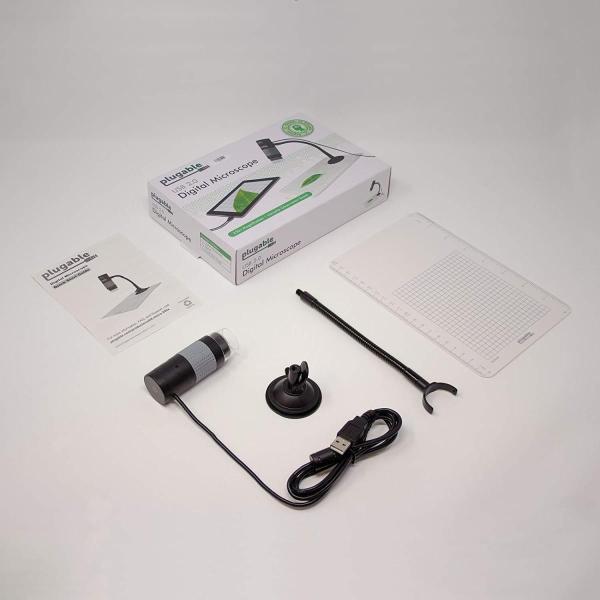 Plugable USB 2.0 デジタル・マイクロスコープ(200万画素 最大250倍ズーム)- 取り外し可能観察プレート付、Window