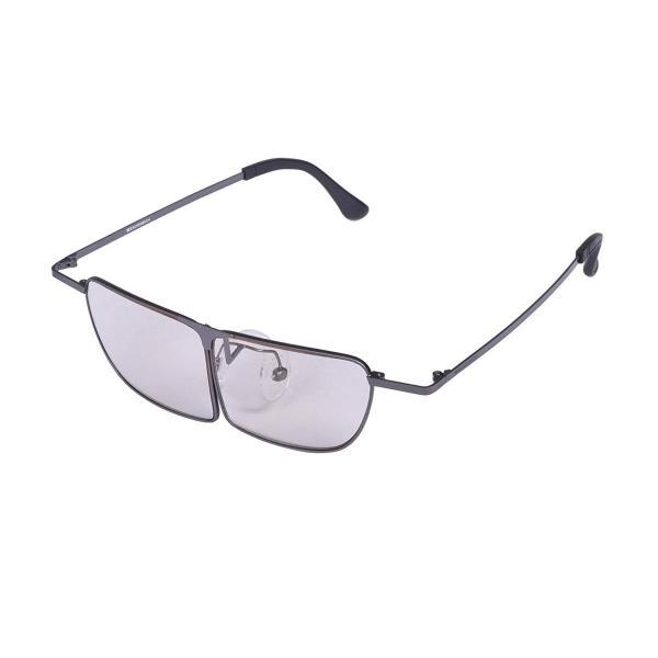 ESCHENBACH メガネ型 ルーペ メガネの上から使用可能 ラボズーム ガンメタ 1.8倍 2998-1330