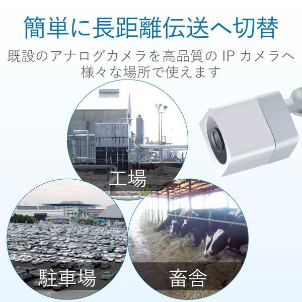 DXアンテナ デルカテック 同軸LANアダプタ(親機) PoE対応 給電機能付き アナログカメラからIPカメラへのバージョンアップができる