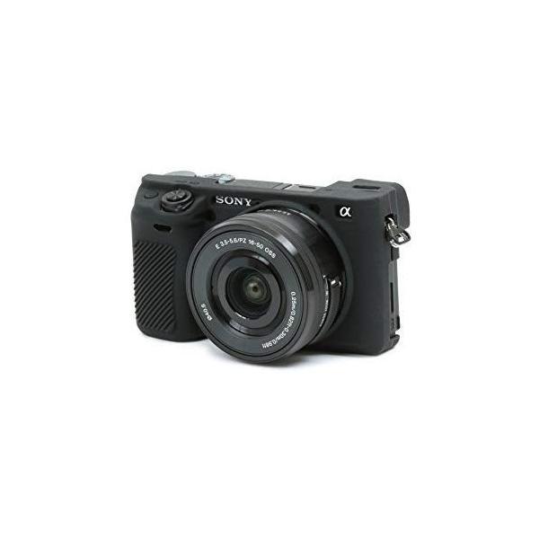 DISCOVERED イージーカバー ソニーα6300 用 カメラカバー ブラック 液晶保護フィルム付き