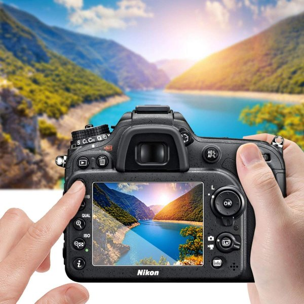 3 枚セットニコン( Nikon ) D3400 D3300 D3200 D3100 保護フィルム, AKWOX Nikon D3400 D