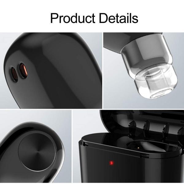 Docooler イヤホン 完全 ワイヤレス ミニ BT4.2技術 ヘッドフォン ステレオ 高音質 音楽 ハンズフリー 軽量 700mAh充