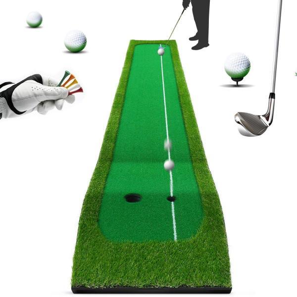 ゴルフマット スイング練習マット パッティングマット ショットマット 自宅 室内 練習用パターマツト 面滑り止め仕様 人工芝 コンパクト収納|tywith|04