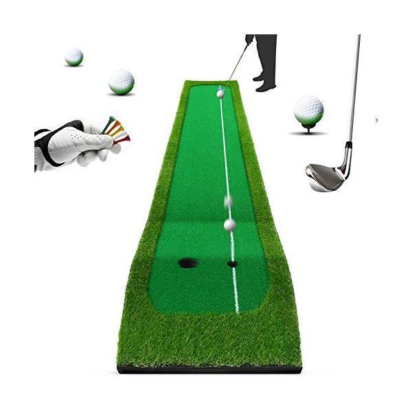ゴルフマット スイング練習マット パッティングマット ショットマット 自宅 室内 練習用パターマツト 面滑り止め仕様 人工芝 コンパクト収納|tywith|07