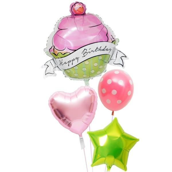 バルーン ギフト 誕生日 電報 風船 装飾 カップケーキ 誕生日バルーン139